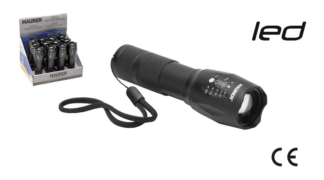 TORCIA LED CON ZOOM